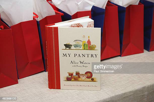 Chef Alice Water's book 'My Pantry' on display at An Evening With Alice Waters And David Tanis part of the Bank Of America Dinner Series during Food...