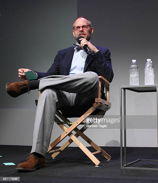 Chef Alton Brown attends Meet the Author at the Apple Store Soho on November 21 2013 in New York City