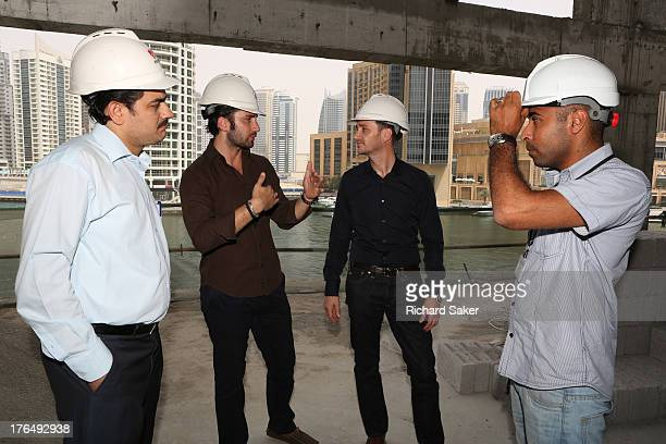 Chef and businessman Jason Atherton is photographed for the Observer as he inspects the site of his latest restaurant project on May 13 2013 in Dubai...