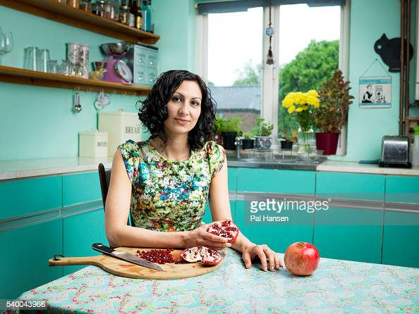 Chef and food writer Yasmin Khan is photographed for the Observer on May 14 2016 in London England