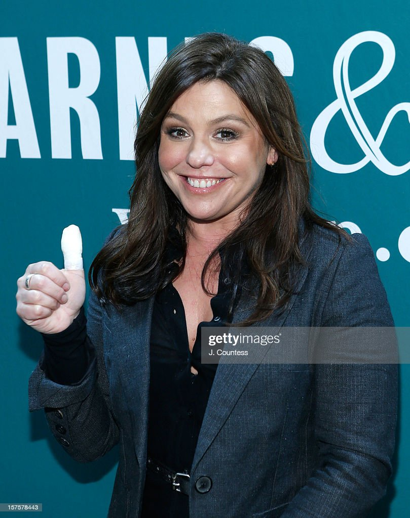 Chef and media personality Rachael Ray poses as she promotes her book 'My Year In Meals' at Barnes & Noble Union Square on December 4, 2012 in New York City.