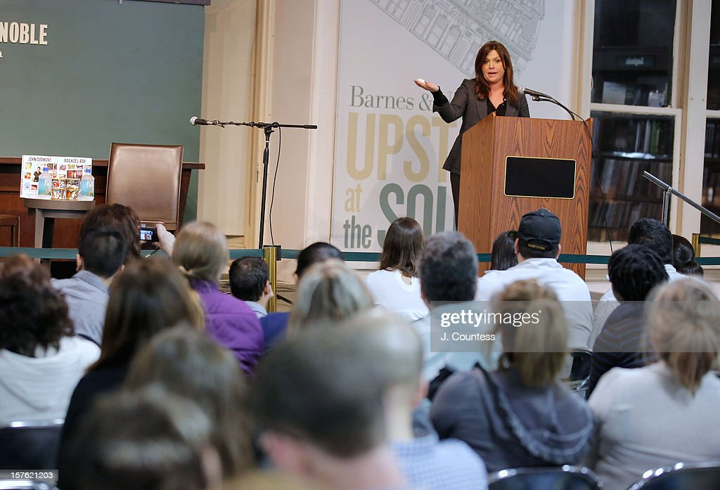 Chef and media personality Rachael Ray speaks to the audience during a book signing for her book 'My Year In Meals' at Barnes & Noble Union Square on December 4, 2012 in New York City.