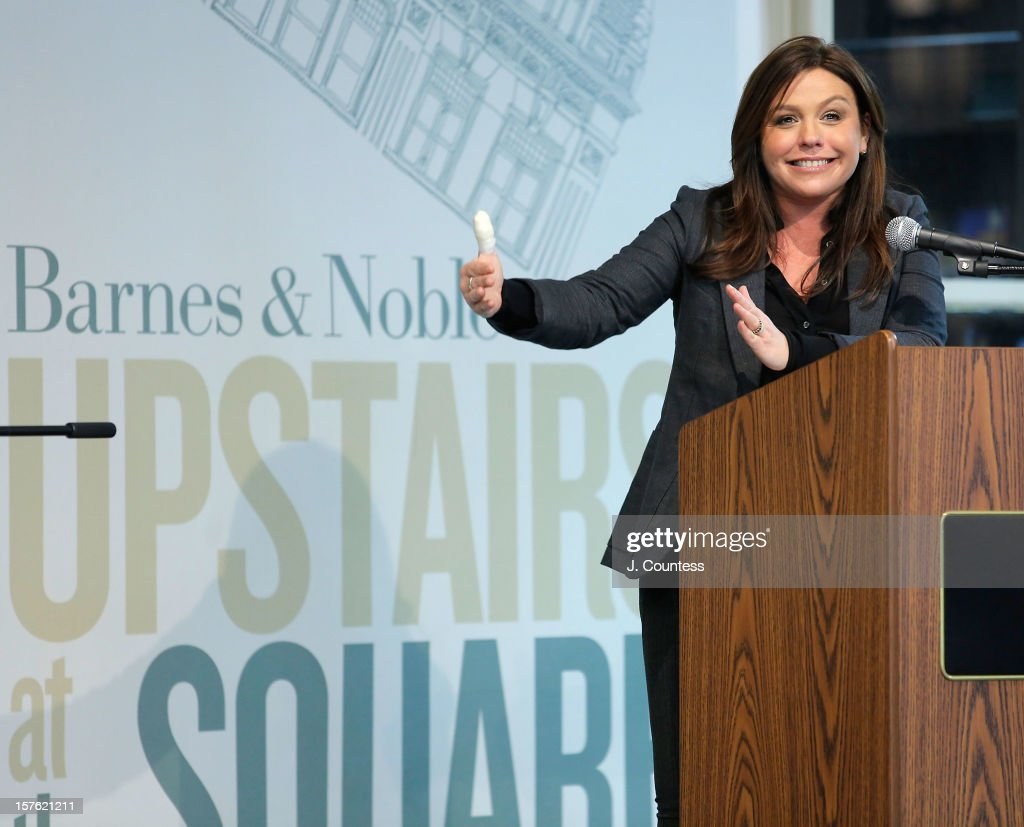Chef and media personality <a gi-track='captionPersonalityLinkClicked' href=/galleries/search?phrase=Rachael+Ray&family=editorial&specificpeople=542712 ng-click='$event.stopPropagation()'>Rachael Ray</a> speaks to the audience during a book signing for her book 'My Year In Meals' at Barnes & Noble Union Square on December 4, 2012 in New York City.
