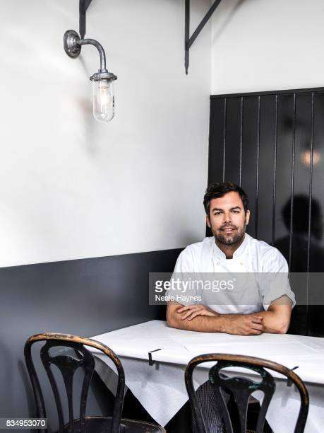 Chef and restaurateur Tim Siadatan is photographed for the Sunday Times magazine on June 19 2017 in London England
