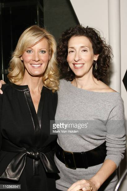 Chef and TV personality Sandra Lee and Family Circle EditorinChief Linda Fears at the launch party for book 'Made From Scratch A Memoir' by Sandra...