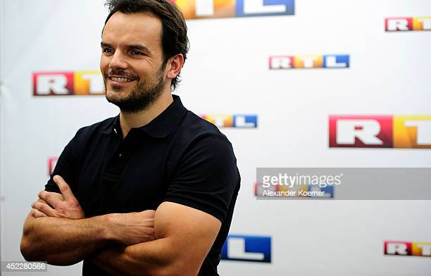 Chef and tvpresenter Steffen Henssler attends the offical Television programmpreview of german television production RTL on July 17 2014 in Hamburg...