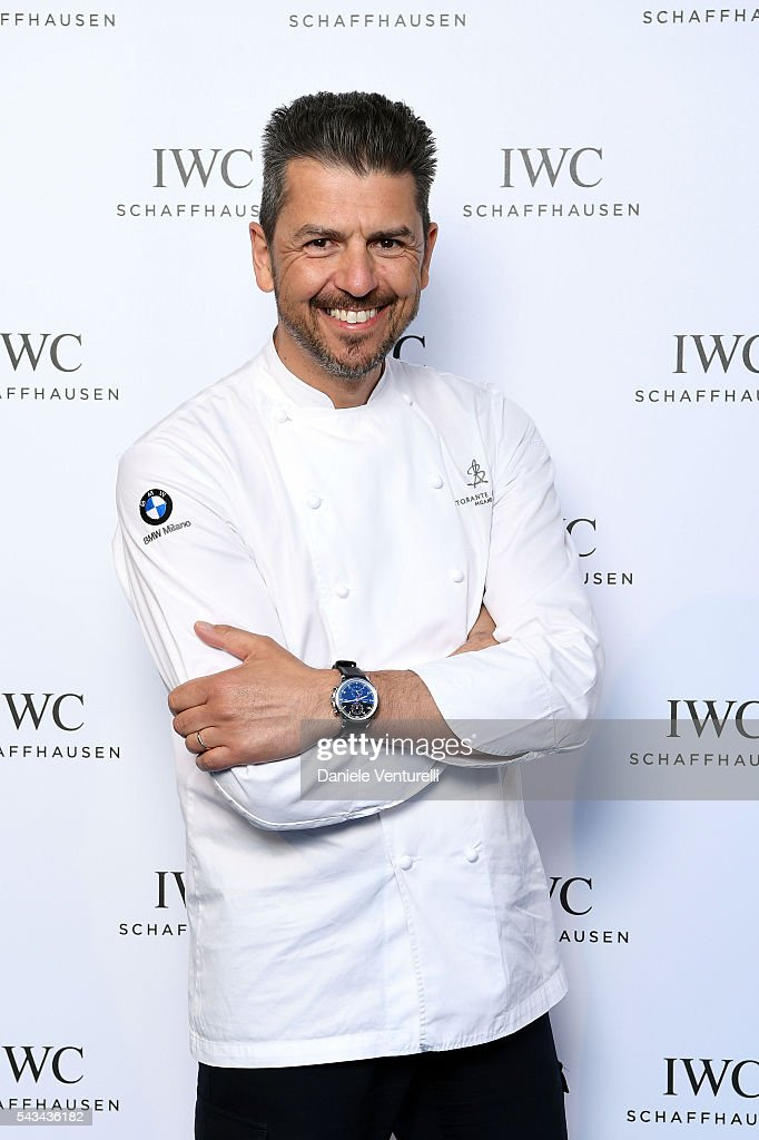 Chef Andrea Berton attends IWC Boutique Opening Dinner on June 28, 2016 in Milan, Italy.