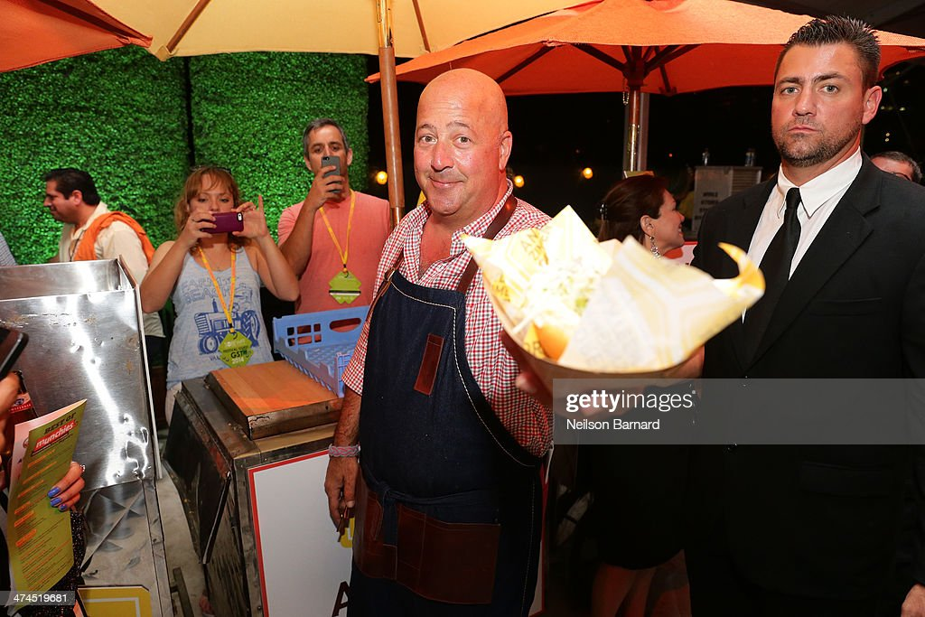Chef <a gi-track='captionPersonalityLinkClicked' href=/galleries/search?phrase=Andrew+Zimmern&family=editorial&specificpeople=4525179 ng-click='$event.stopPropagation()'>Andrew Zimmern</a> attends Best of The Munchies: People's Choice Food Awards Presented by PepsiCo Hosted by <a gi-track='captionPersonalityLinkClicked' href=/galleries/search?phrase=Andrew+Zimmern&family=editorial&specificpeople=4525179 ng-click='$event.stopPropagation()'>Andrew Zimmern</a> during the Food Network South Beach Wine & Food Festival at Beachside at The Ritz Carlton on February 23, 2014 in Miami Beach, Florida.