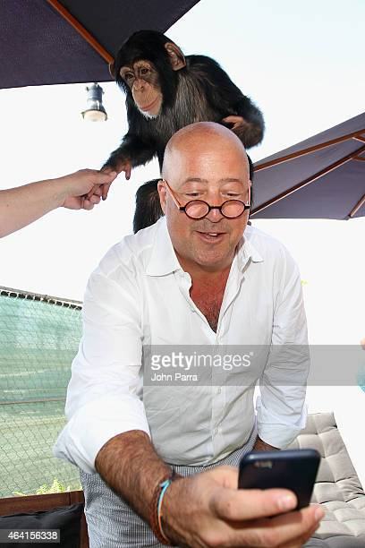 Chef Andrew Zimmern attends Fun and Fit as a Family sponsored by Carnival featuring Goya Kidz Kitchen during 2015 Food Network Cooking Channel South...