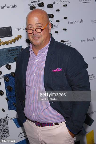 Chef Andrew Zimmern attends the launch party for the Renaissance New York Midtown Hotel held at the Renaissance New York Midtown on June 2 2016 in...