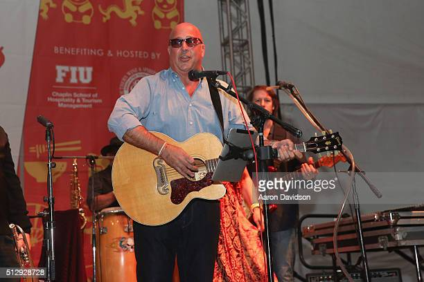 Chef Andrew Zimmern performs on stage during the LUCKY CHOPSTICKS An Asian Night Market Hosted By Andrew Zimmern during 2016 Food Network Cooking...
