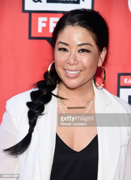 Chef Angie Mar arrives at EAT Food Film Fest at Bryant Park on June 20 2017 in New York City Photo by Michael Loccisano/Getty Images for