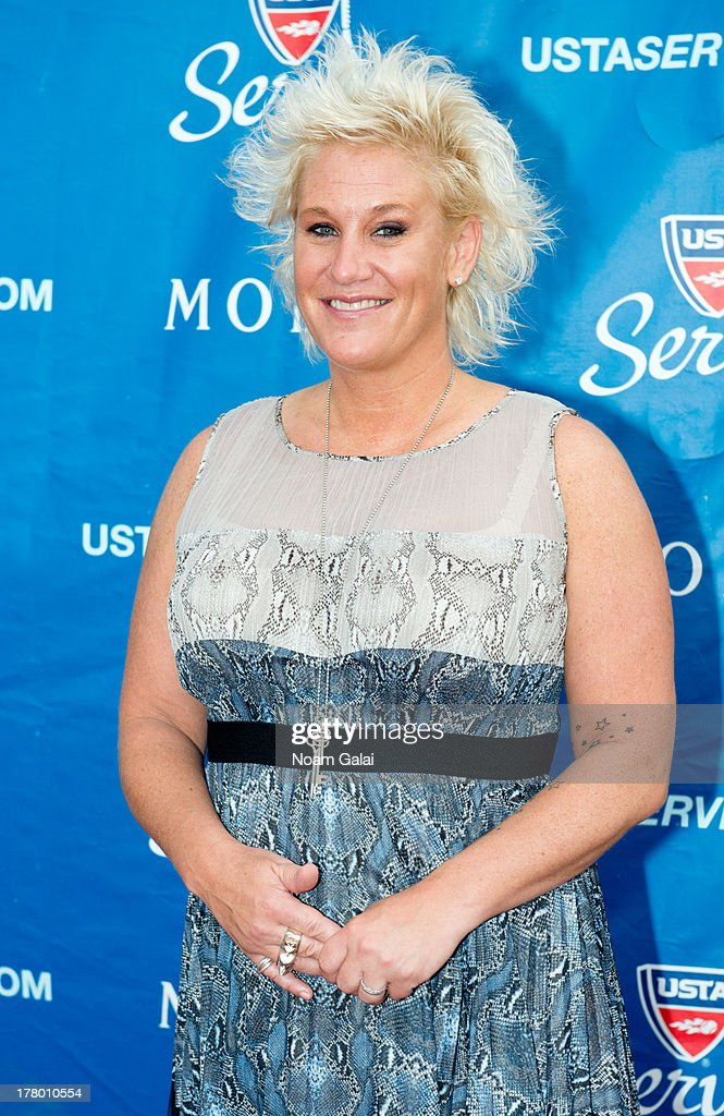 Chef <a gi-track='captionPersonalityLinkClicked' href=/galleries/search?phrase=Anne+Burrell&family=editorial&specificpeople=5614598 ng-click='$event.stopPropagation()'>Anne Burrell</a> attends the 13th Annual USTA Serves Opening Night Gala at USTA Billie Jean King National Tennis Center on August 26, 2013 in New York City.