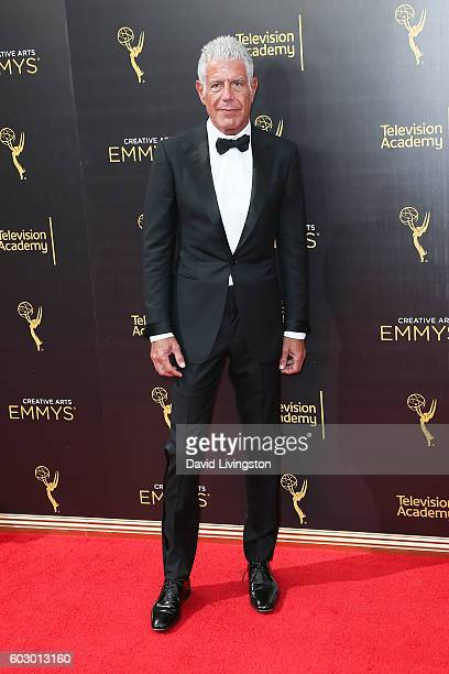 Chef Anthony Bourdain attends the 2016 Creative Arts Emmy Awards Day 2 at the Microsoft Theater on September 11 2016 in Los Angeles California