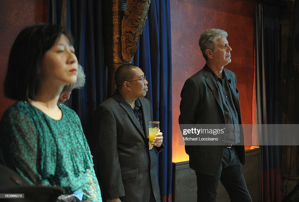 Chef <a gi-track='captionPersonalityLinkClicked' href=/galleries/search?phrase=Anthony+Bourdain&family=editorial&specificpeople=2310617 ng-click='$event.stopPropagation()'>Anthony Bourdain</a> (R) attends The Inagural World Street Food Congress 2013 at Spice Market on February 25, 2013 in New York City.