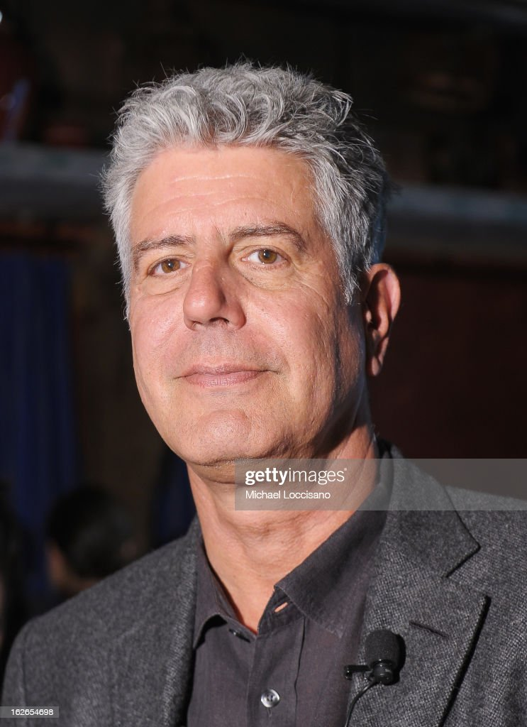 Chef <a gi-track='captionPersonalityLinkClicked' href=/galleries/search?phrase=Anthony+Bourdain&family=editorial&specificpeople=2310617 ng-click='$event.stopPropagation()'>Anthony Bourdain</a> attends the press conference announcing the Inaugural World Street Food Congress 2013 at Spice Market on February 25, 2013 in New York City.