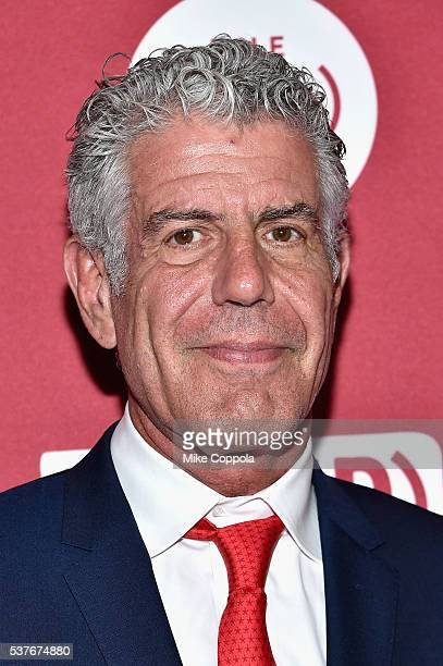 Chef Anthony Bourdain attends The Supper hosted by Mario Batali with Anthony Bourdain on June 2 2016 in New York City