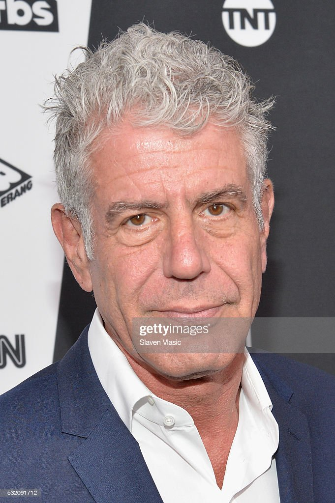 Chef Anthony Bourdain attends the Turner Upfront 2016 at Nick Stef's Steakhouse on May 18 2016 in New York City