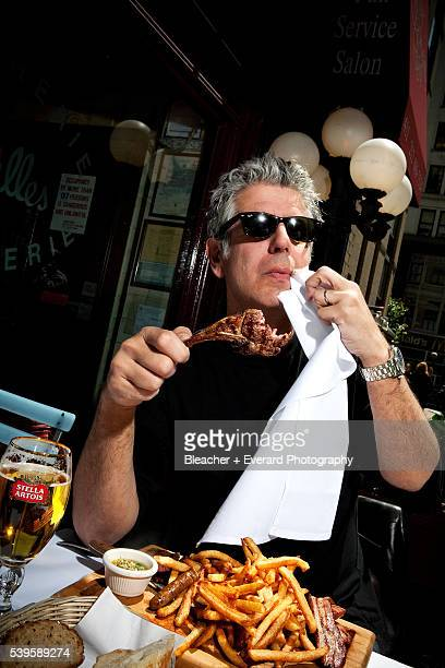 Chef Anthony Bourdain is photographed for Power the Magazine on May 19 2009 in New York City