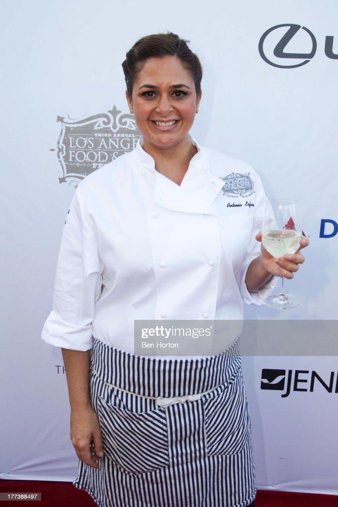 Chef Antonia Lofaso attend the Festa Italiana with Giada de Laurentiis opening night celebration of the third annual Los Angeles Food & Wine Festival on August 22, 2013 in Los Angeles, California.