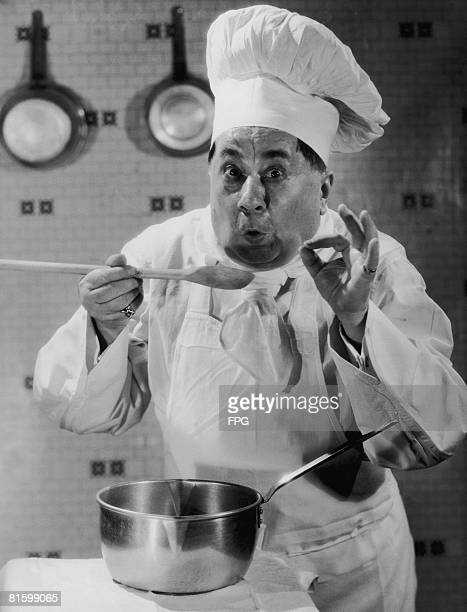 A chef approves of his own cooking circa 1935