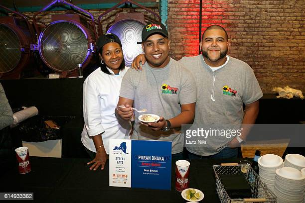 Chef Arturo Gomez of Puran Dhaka presents food at Street Eats hosted by Ayesha Curry and Michael Mina part of LOCAL presented by Delta Air Lines at...