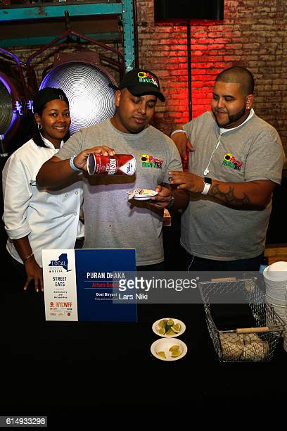 Chef Arturo Gomez of Puran Dhaka seasons food with Diamond Crystel Kosher Salt at Street Eats hosted by Ayesha Curry and Michael Mina part of LOCAL...