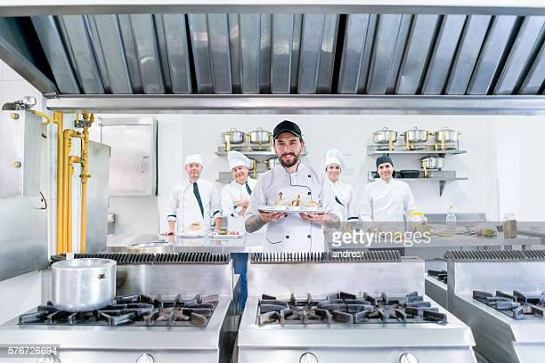 Chef at a commercial kitchen