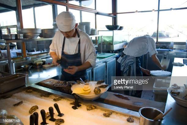Chef at Boathouse restaurant, Blackwattle Bay.