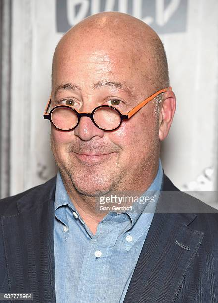 Chef author TV personality Andrew Zimmern attends Build Series to discuss the series 'Bizzare Foods' at Build Studio on January 26 2017 in New York...