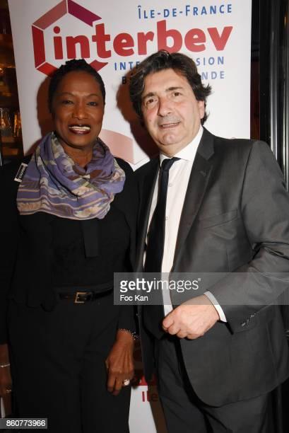 Chef Babette des Rosieres and Dominique Restino fom CCI attend the 'Boeuf A la Mode' Dinner Hosted by Les Artisans Bouchers de Paris et Ile De France...
