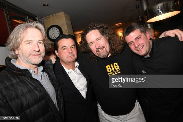 Chef baker Jean Luc Poujauran Bistrot Marguerite owner Alain Plaud Cheese chefs Xavier Thuret and Theo Michel attend 'Apero Mecs A Legumes' Party...