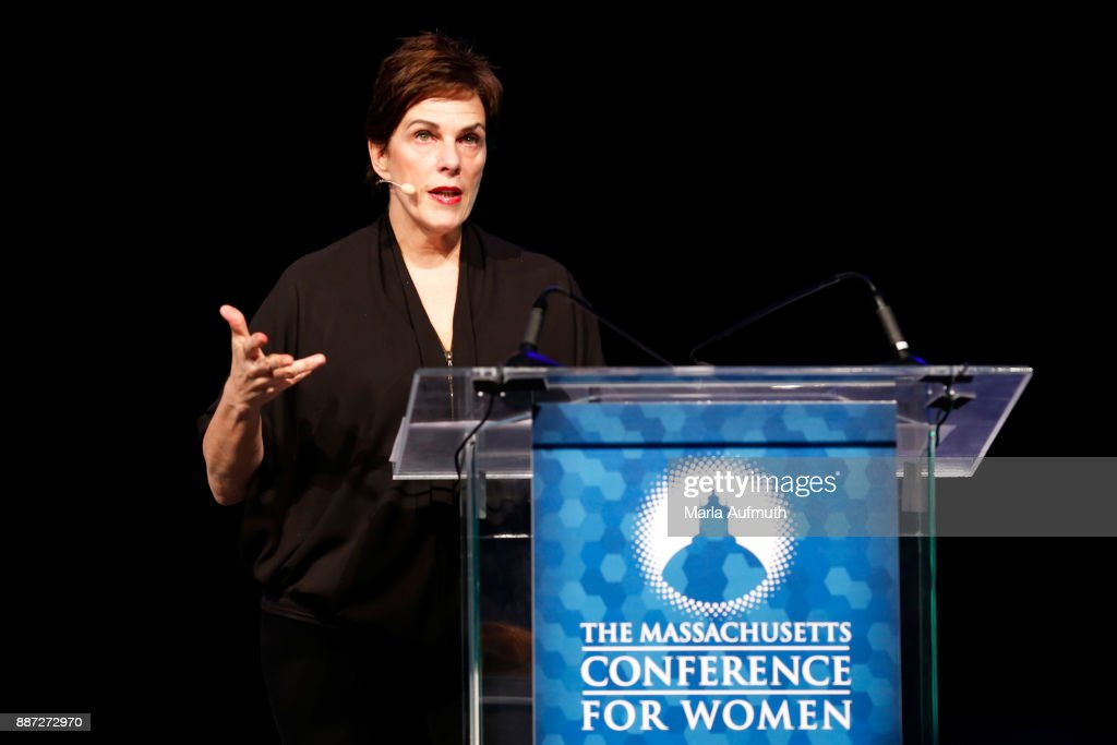 Chef Barbara Lynch speaks the Opening Night of the Massachusetts Conference for Women at the Boston Convention Center on December 6, 2017 in Boston, Massachusetts.