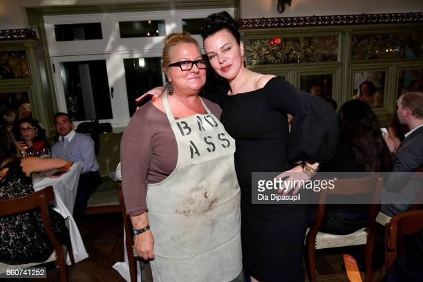 Chef Beatrice Tosti and Actress Debi Maar attend a Dinner with Debi Mazar Gabriele Corcos and Beatrice Tosti part of the Bank of America Dinner...