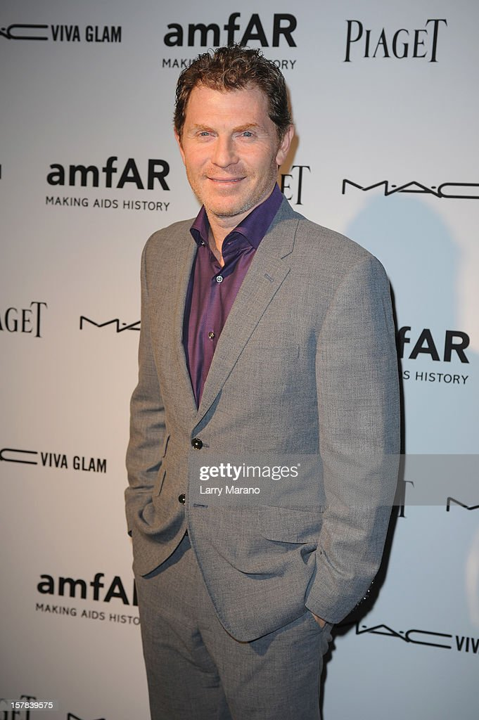 Chef <a gi-track='captionPersonalityLinkClicked' href=/galleries/search?phrase=Bobby+Flay&family=editorial&specificpeople=220554 ng-click='$event.stopPropagation()'>Bobby Flay</a> attends the amfAR Inspiration Miami Beach Party at Soho Beach House on December 6, 2012 in Miami Beach, Florida.