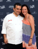 Chef Buddy Valastro and Las Vegas Convention and Visitors Authority Senior Vice President of Marketing Cathy Tull attend Vegas Uncork'd by Bon...
