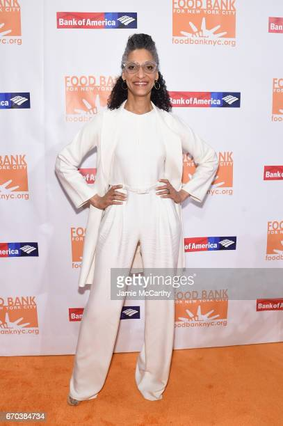 Chef Carla Hall attends the Food Bank for New York City CanDo Awards Dinner 2017 on April 19 2017 in New York City
