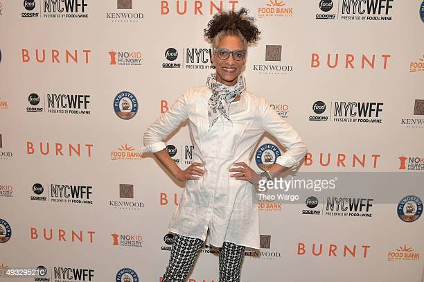 Chef Carla Hall attends the Private Screening Of BURNT QA Panel And Reception With Bradley Cooper And Sienna Miller during Food Network Cooking...