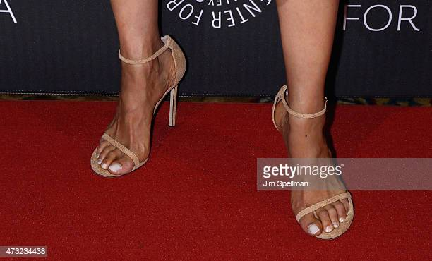 Chef Carla Hall shoe detail attends the The Paley Center For Media hosts a tribute to AfricanAmerican achievements in television at Cipriani Wall...