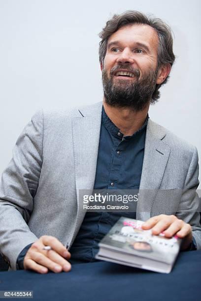 Chef Carlo Cracco signs his recipes book 'E' nato prima l'uovo o la farina ' at Bookcity Milan 2016 on November 19 2016 in Milan Italy
