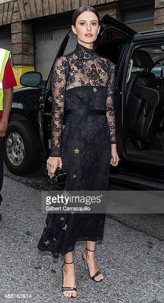 Chef Caroline Byron is seen during Spring 2016 New York Fashion Week on September 13 2015 in New York City