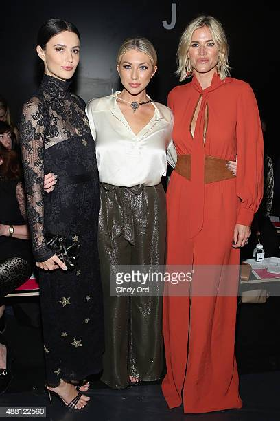 Chef Caroline Byron model Stassi Schroeder and TV Personality Kristen Taekman attends Georgine Spring 2016 during New York Fashion Week The Shows at...