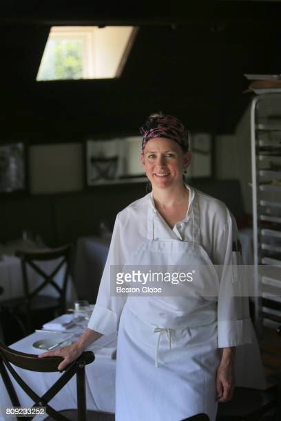 Chef Carolyn Johnson poses for a portrait at at 80 Thoreau in Concord MA on Jun 28 2017