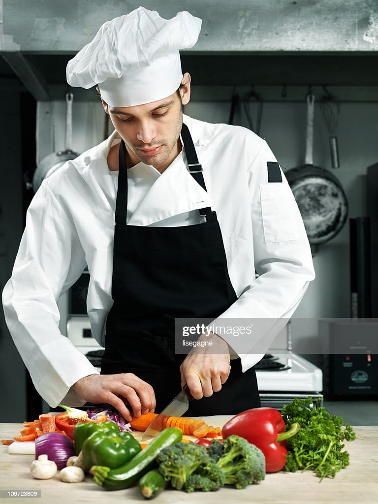 Chef Chopping Vegetables Stock Photo | Getty Images