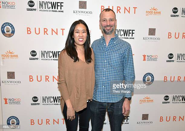 Chef Chris Jaeckle attends the Private Screening Of BURNT QA Panel And Reception With Bradley Cooper And Sienna Miller during Food Network Cooking...