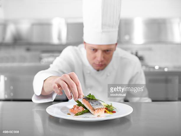 Chef Completing Fish