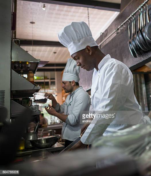 Chef cooking at a restaurant