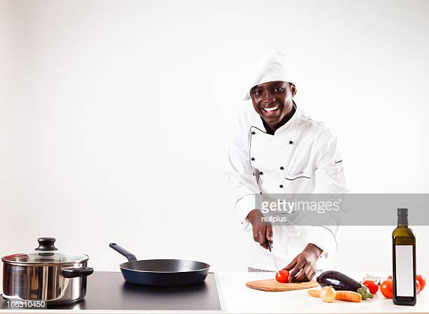 chef cooking in his kitchen