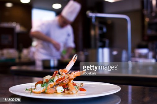 Restaurant Kitchen Photography chef cooking in restaurant kitchen stock photo | getty images