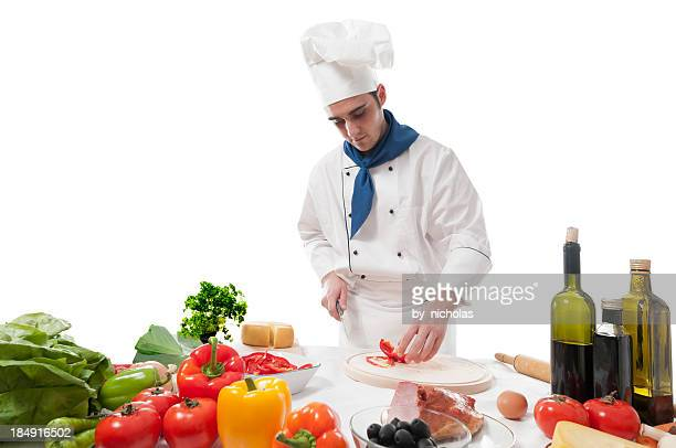 Koch Kochen, isoliert auf weiss